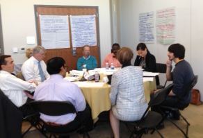 Steering Committee members discuss elements of our vision statement